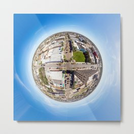 Tiny Planet Harlingen, Texas Metal Print