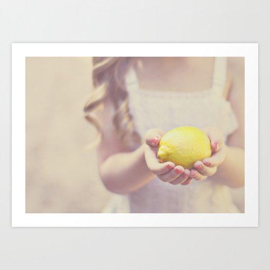 Sweet Lemon Art Print