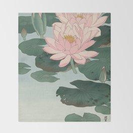 Lotus Lilies  Throw Blanket