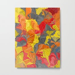 Oil colored rocks 04 Metal Print