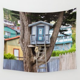 House on the Tree Wall Tapestry