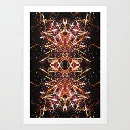 tribal fire. Art Print