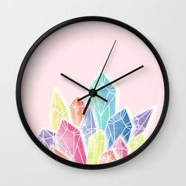 Crystals Pink Wall Clock