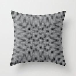 WEAVE...brown,black Throw Pillow