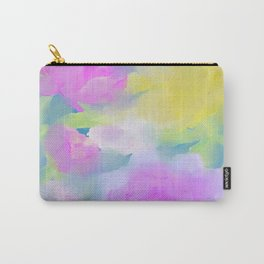 Romantic Floral Blue Watercolor Purple Pink Flowers Carry-All Pouch