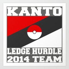 Kanto Ledge Hurdling Team White Outliens Art Print