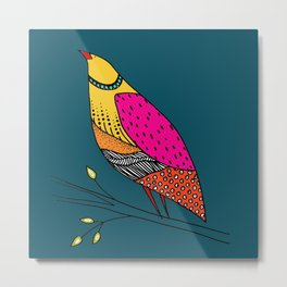 the colored Neville Metal Print