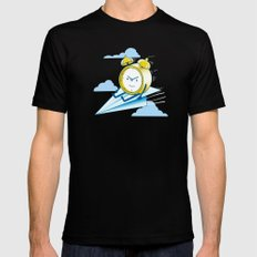 Times Flies (color option) Black Mens Fitted Tee MEDIUM