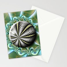 Sea urchin and shell Stationery Cards