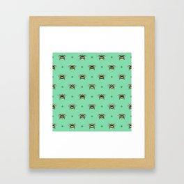 Bumblebees on Spearmint Framed Art Print