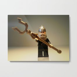 MONGOLIAN WARRIOR CUSTOM LEGO MINIFIGURE by Chillee Wilson Metal Print