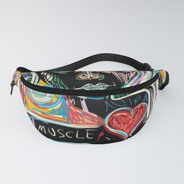 Muscle is Life Street Art Graffiti Love Fanny Pack