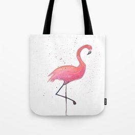 Pink flamingo splash Tote Bag