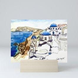 Santorini Island Greece Mini Art Print