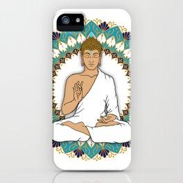 Mandala Abhaya Mudra Buddha iPhone Case