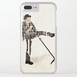 Typography Art of Tom Waits Clear iPhone Case