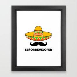 Senior Developer Framed Art Print