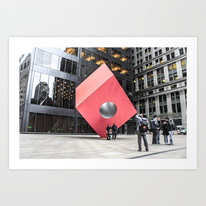 ArtWork New York City Black and Colour Art Print