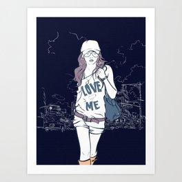 Urban Girl Art Print