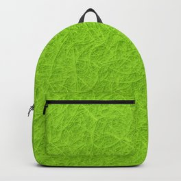 Lime green 3D carpet texture Backpack