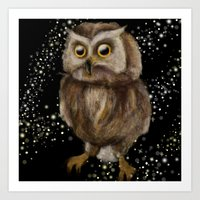 hedwig Art Prints featuring My Hedwig by Mathis Designs
