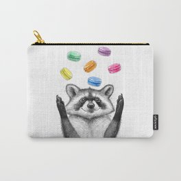 raccoon with cookies Carry-All Pouch