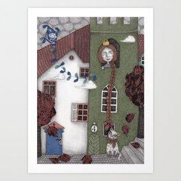 Staying Home (3) Art Print