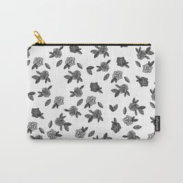 Secret Garden in Gray Carry-All Pouch