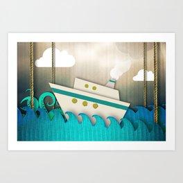 Cardboard Sea Art Print