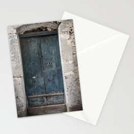 Green Door with Heart Stationery Cards
