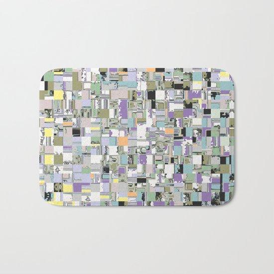 Chaotic Geometric Tiles Bath Mat