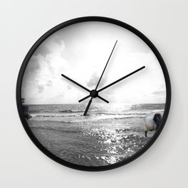 If the Beach tell A Story Wall Clock