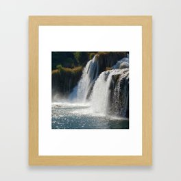 Waterfalls KRK, Croatia Framed Art Print