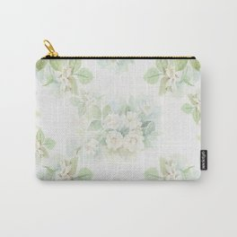 White roses bouquet watercolour painting Carry-All Pouch