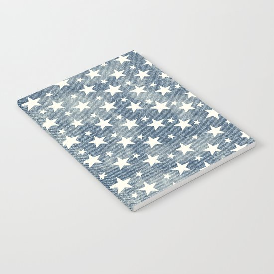 Stars with denim effect Notebook