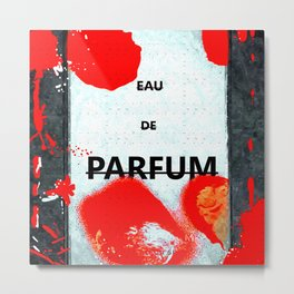 Parfum Box Red Splash Metal Print