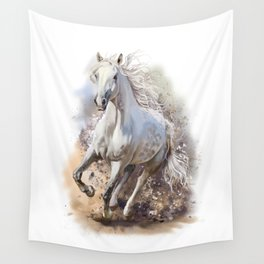 White Horse Gallop Wall Tapestry