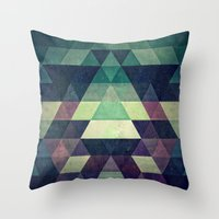 spires Throw Pillows featuring dysty_symmytry by Spires