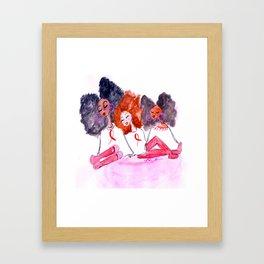 Unbothered Breast Cancer Awareness Framed Art Print