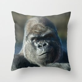 Oumbi The Silverback Portrait Throw Pillow