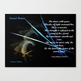 Sword Dance Poem Canvas Print