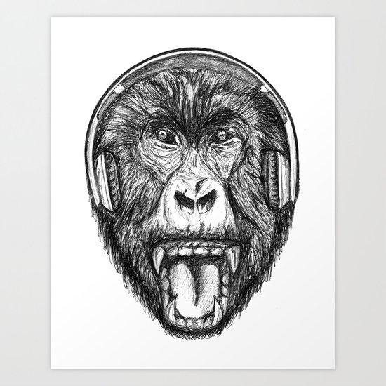 Scream And Shout Art Print