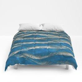 Aqua - blue abstract Comforters