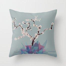 Sakura Tree Throw Pillow