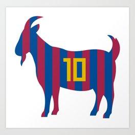 Goat 10 Messi Art Print