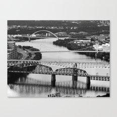 Pittsburgh bridges Canvas Print