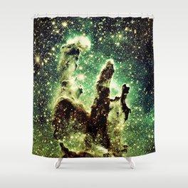 Green Pillars of Creation Shower Curtain