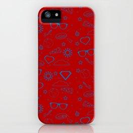 Supergirl/Kara's pattern - blue iPhone Case