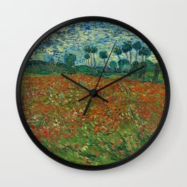 Vincent van Gogh - Poppy Field (1890) Wall Clock