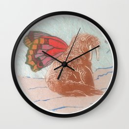 Winged Walrus Wall Clock